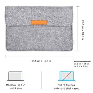 Other - Soft Laptop Sleeve Case for 15.4'' MacBook Pro